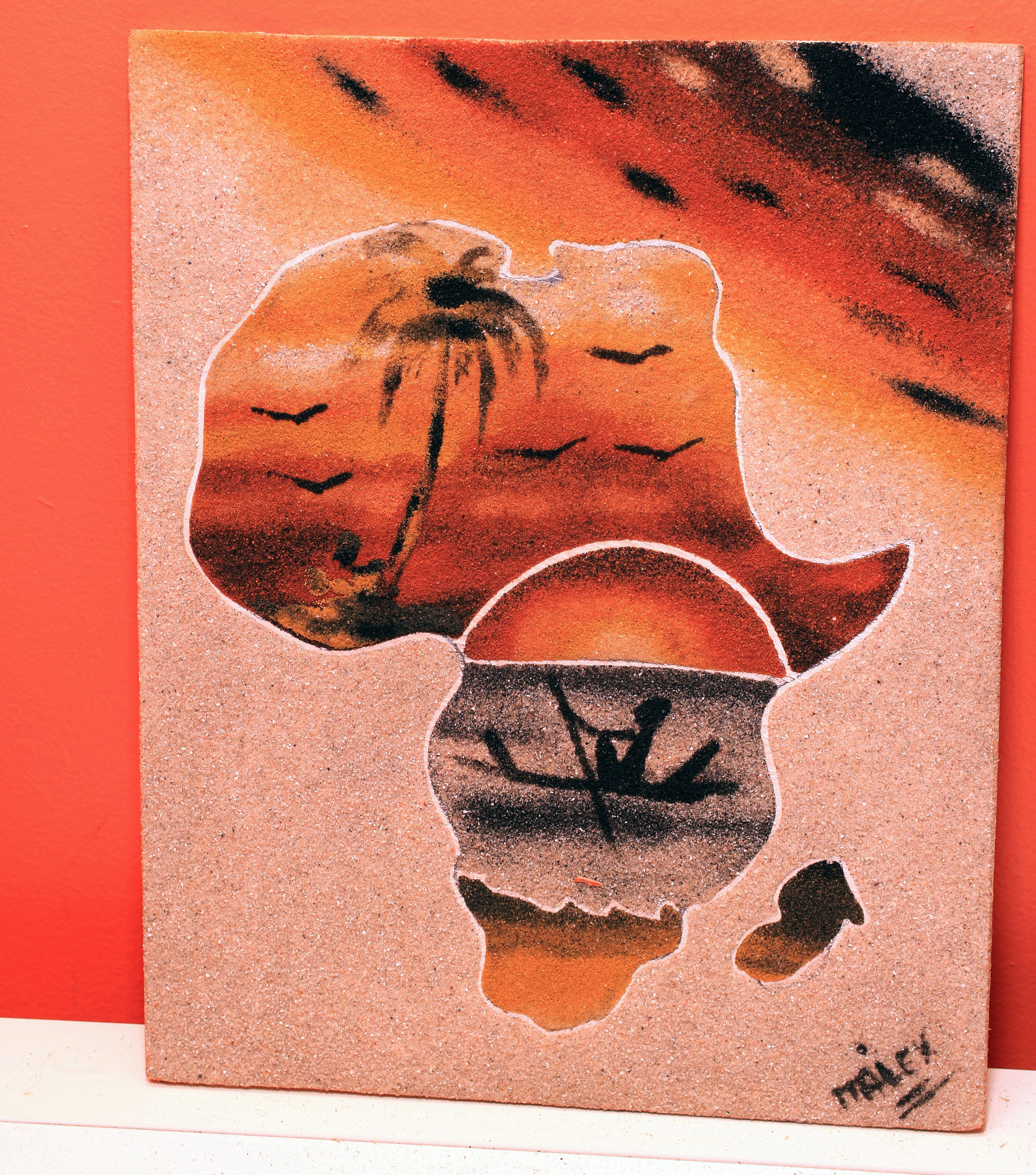 African Sunset - Sand Painting