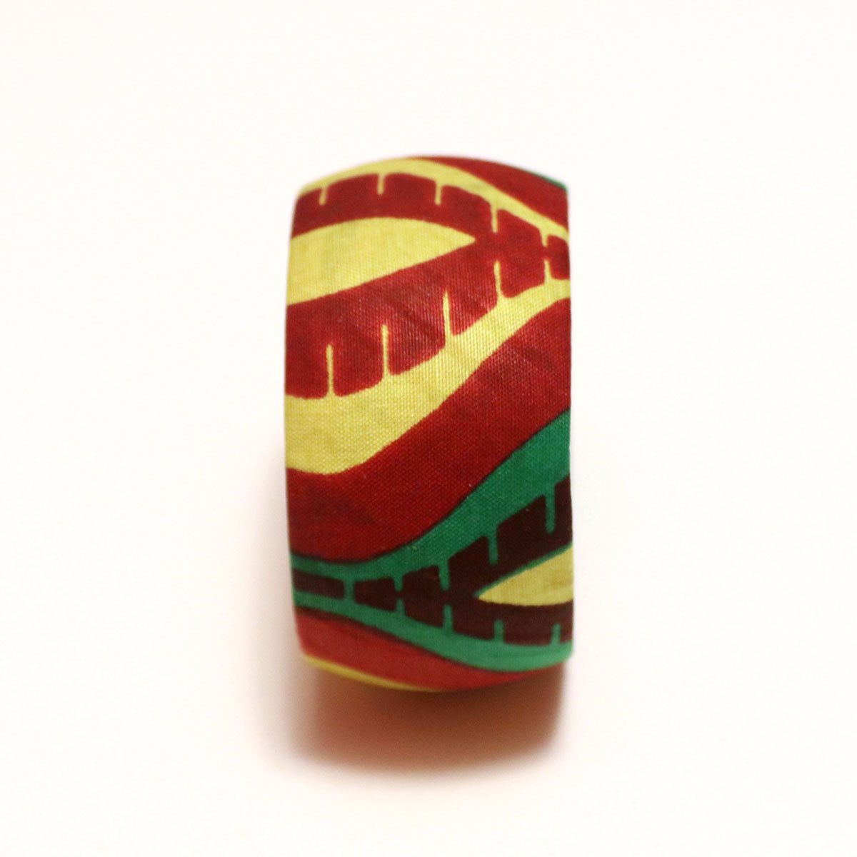 Green, Yellow & Red African Print Bangles