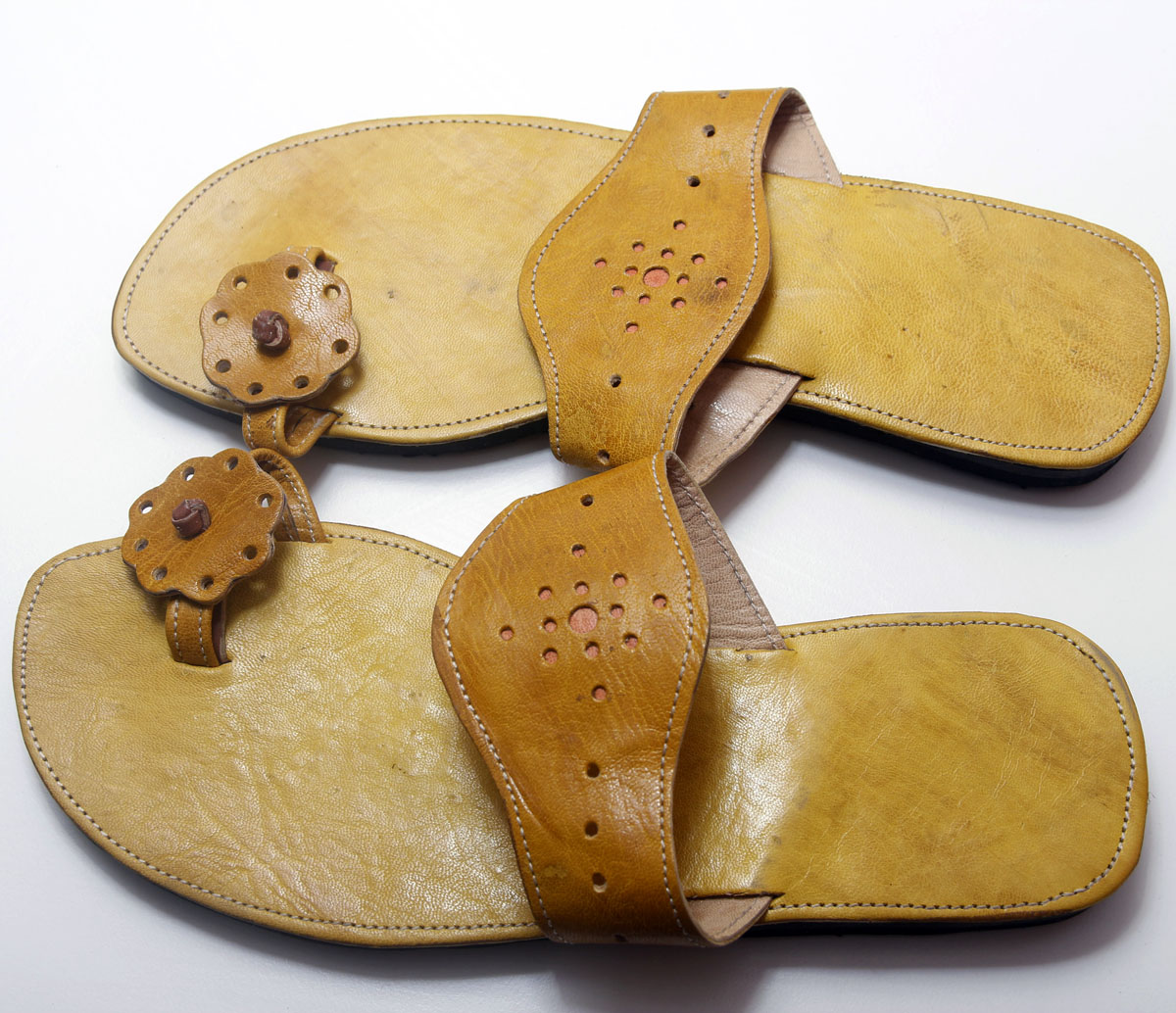 Yellow African Leather Sandals