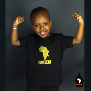 Africa in Harlem T-shirt Black & Gold – Kids