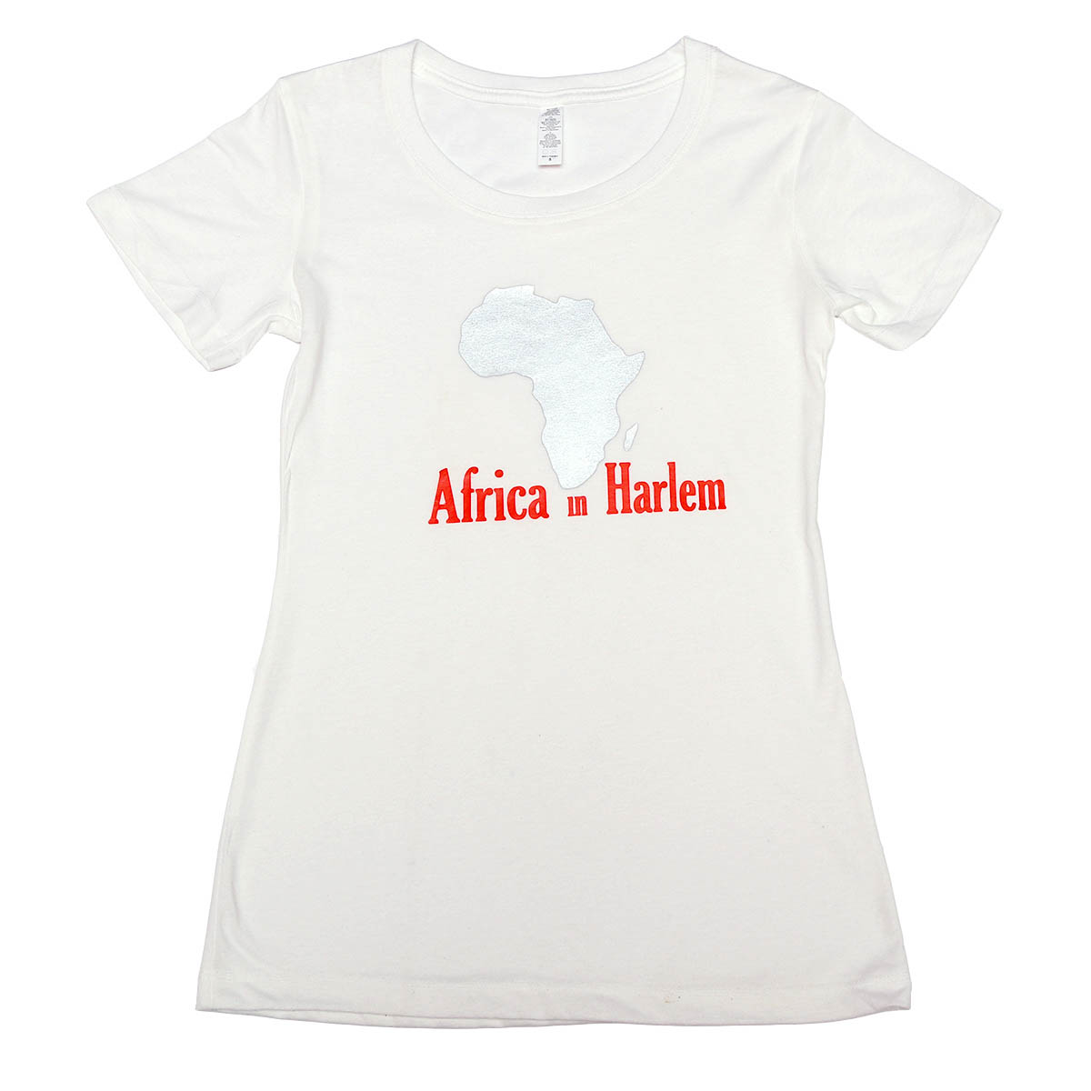 Africa in Harlem T-shirt Original White & Silver – Women